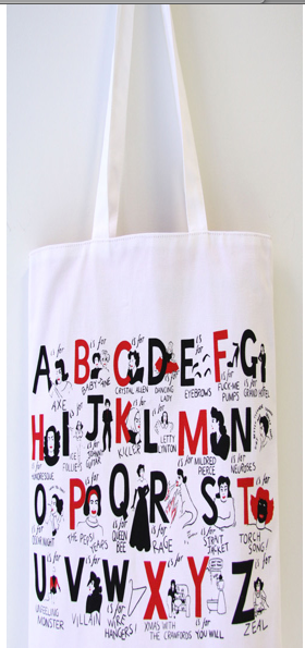 Shopping Bag 'A Joan Crawford alphabet' by Donald Urquhart