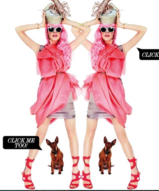 Anna Dello Russo Lobster Hat Eccentric Outfit, net a porte