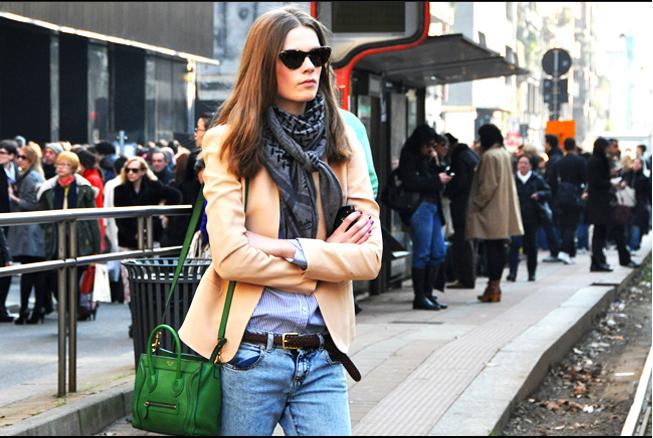Caroline Brasch Nielsen Jeans, Jacket Green Handbag