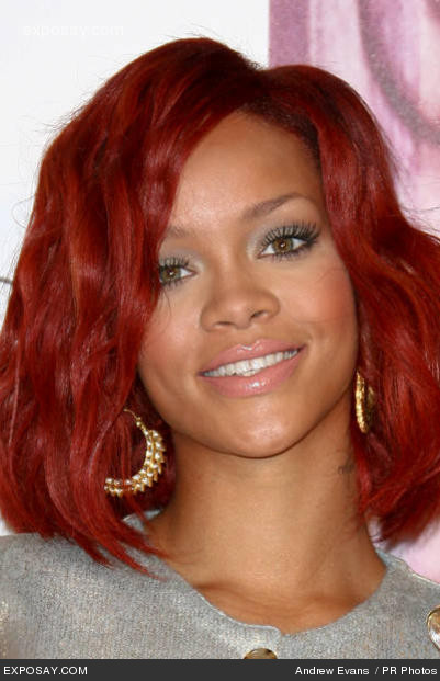 Rihanna red color hair