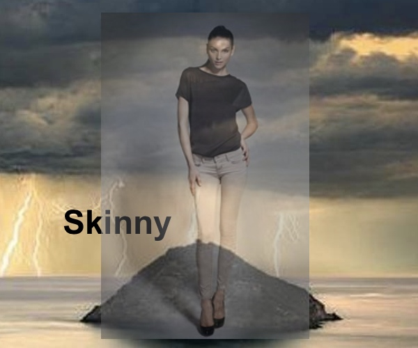 Skinny  Jeans, J Brand, Collage by Nina Papaioannou