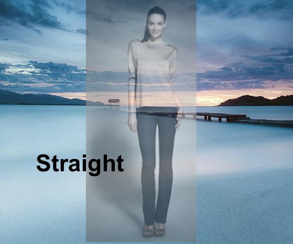 Straight Jeans, J Brand, Collage by Nina Papaioannou