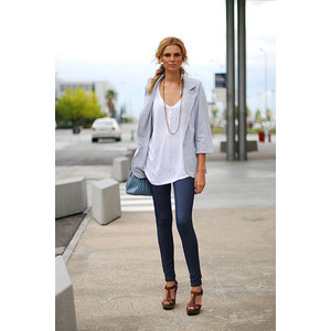 Skinny jeans, Street style, Oversized T-shirt