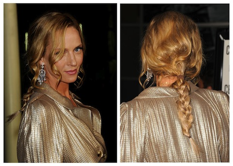 Uma Thurman Hair Long and Makeup
