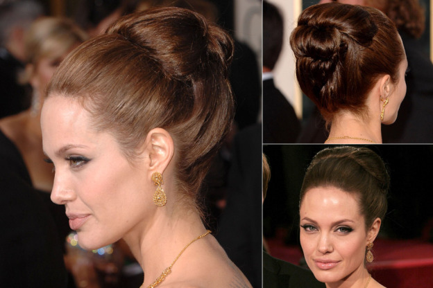 Angelina Jolie retro hair and Makeup