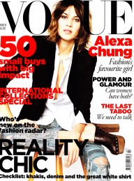 Alexa Chung Vogue  Cover Jeans, black Jacket
