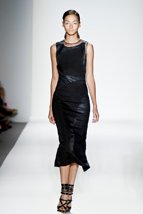 Prabal Gurung 2011 leather dress