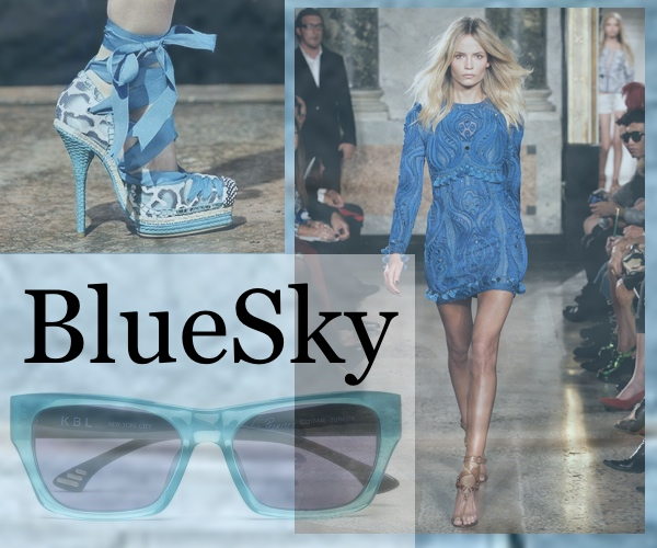 Blue Dior espadrille  shoes collage by Trendsurvivor