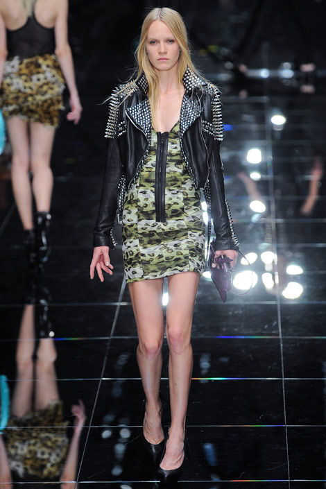 Burberry Prorsum leather jacket and dress