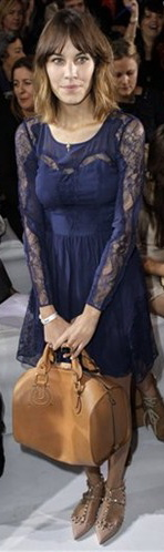 Alexa Chung lace blue dress