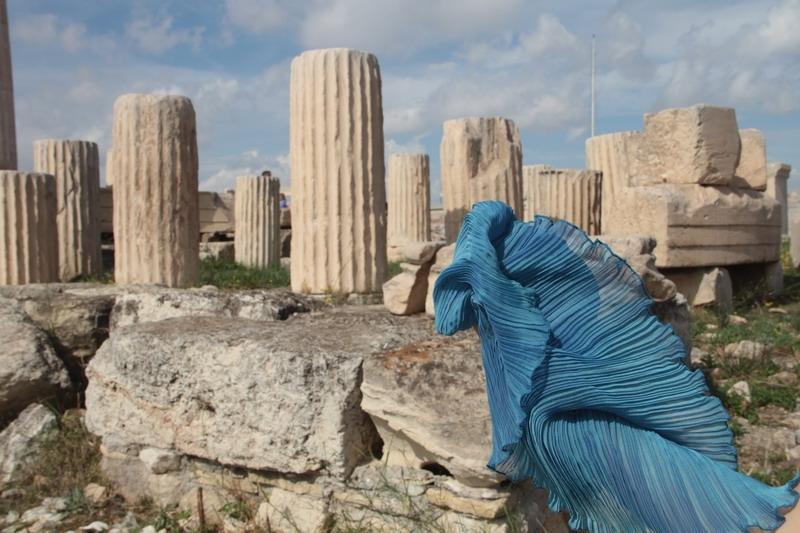Dora Michailidis, Daphne Valente scarf,marbles, Greece