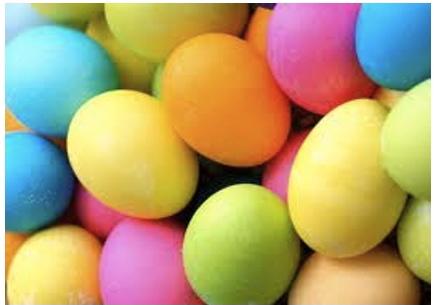 Πασχαλινα αυγα σε εντονα χρωματα