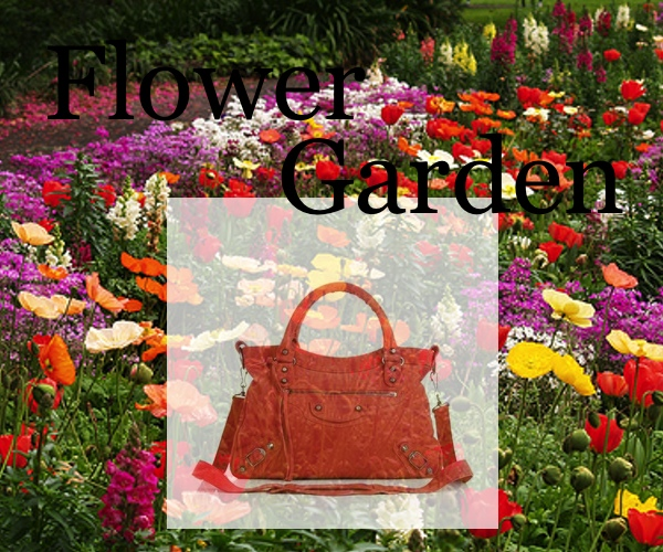 Flower Garden Balenciaga Orange Collage by trendsurvivor