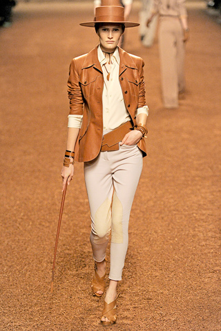 Hermes Tan leather jacket
