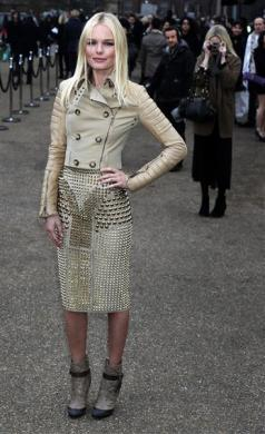 Kate Bosworth in Burberry leather Outfit 2011