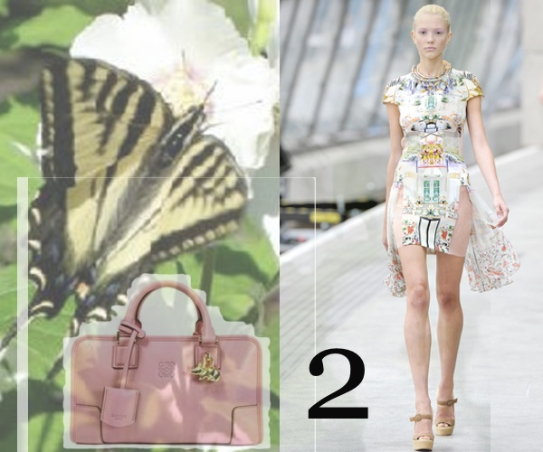 Mary Katrantzou Flower Dress, Lowe Pink Handbag
