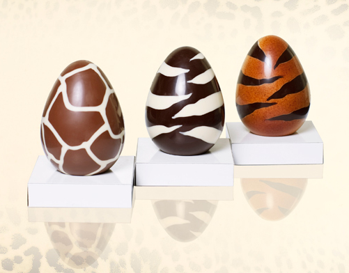Animal Print Chocolate Eggs roberto-cavalli-Πασχαλινα αυγα