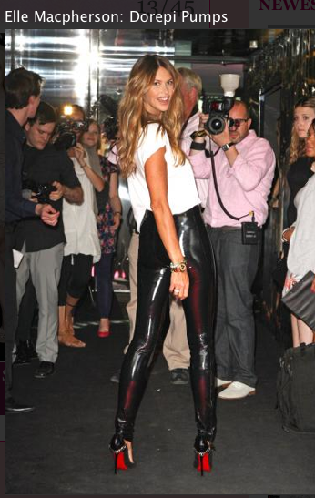Elle McPherson Leather pants