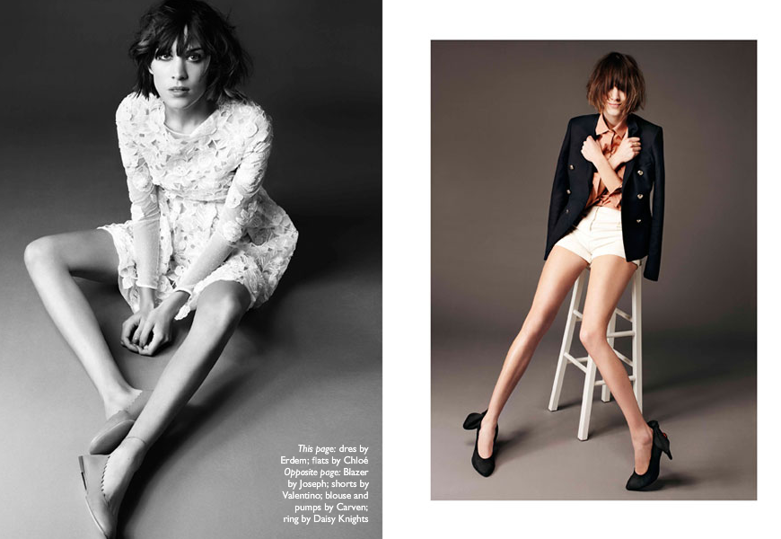 Alexa Chung for Net a Porte Magazine