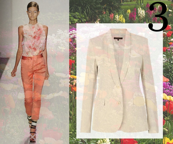 Prabal Gurung Orange Pants and Flower Top, Theory Jacket