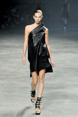 Rick Owens Black Leather dress