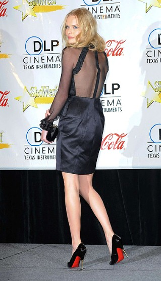 Kate Borworth, Little Black dress, louboutin shoes