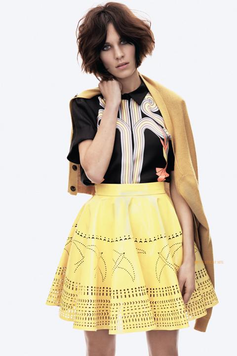 Alexa Chung, Vogue june 2011, καινούργιο κούρεμα καρέ και βαφή