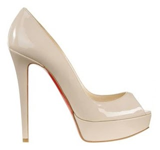 peep toes nude color christian louboutin