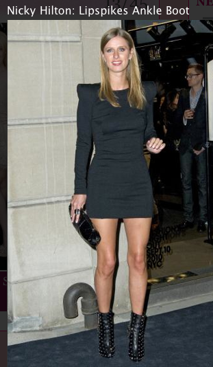 Nicky Hilton, Little Black dress, louboutin booties