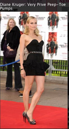Dianne Kruger, Little black dress, stiletto shoes