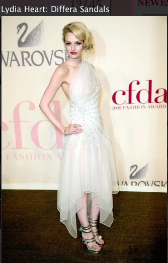 Lydia Heart White dress, louboutin Sandals 2011