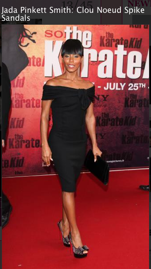 Jada Pinkett Smith, LBD dress, louboutin shoes