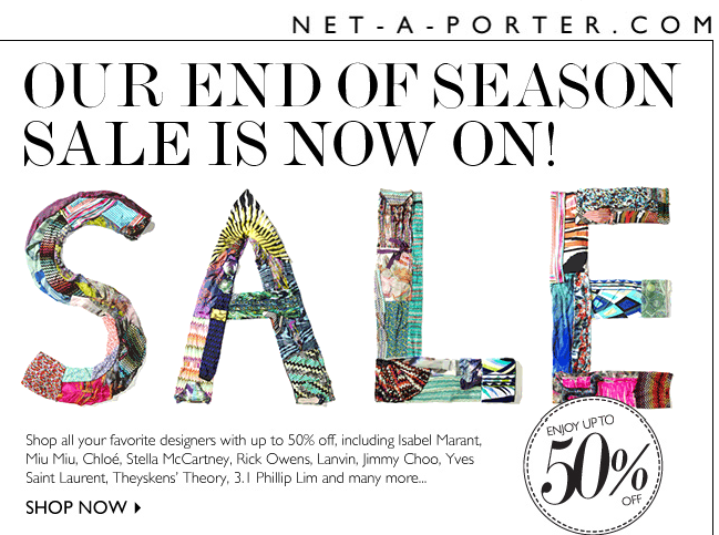 Net a Porter End of Season Sale