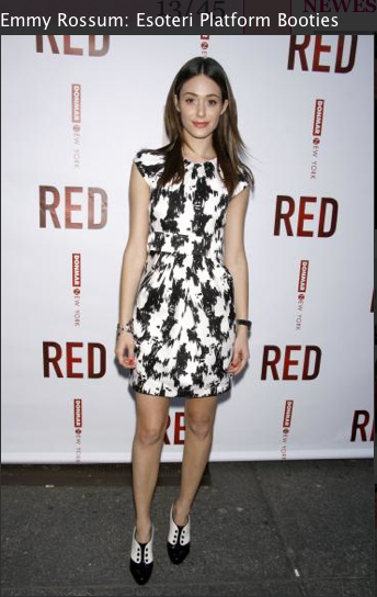 Emmy Rossum , shoes