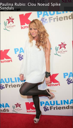 Paulina Rubio, Shoes