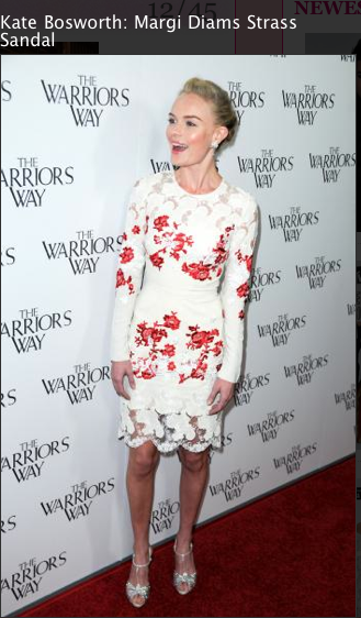 Kate Bosworth floral dress and louboutin shoes