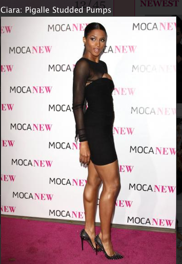 Ciara, Little Black dress, shoes Louboutin