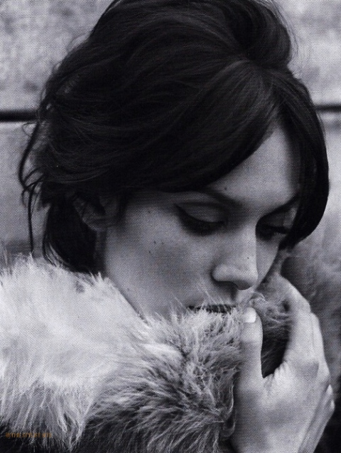 Alexa Chung portrait, styled by Kate Phelan, Vogue June 2011
