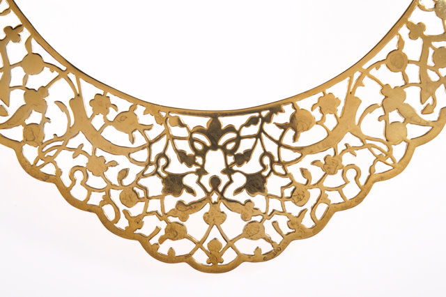 Gold lace necklace by Ilias Lalaounis