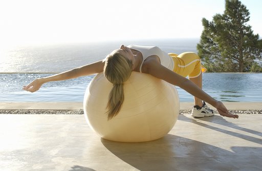 Swiss Ball exercises like Blake Lively