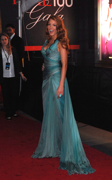Blake Lively 2011 blue green evening dress, Photo Credit: Donna Ward