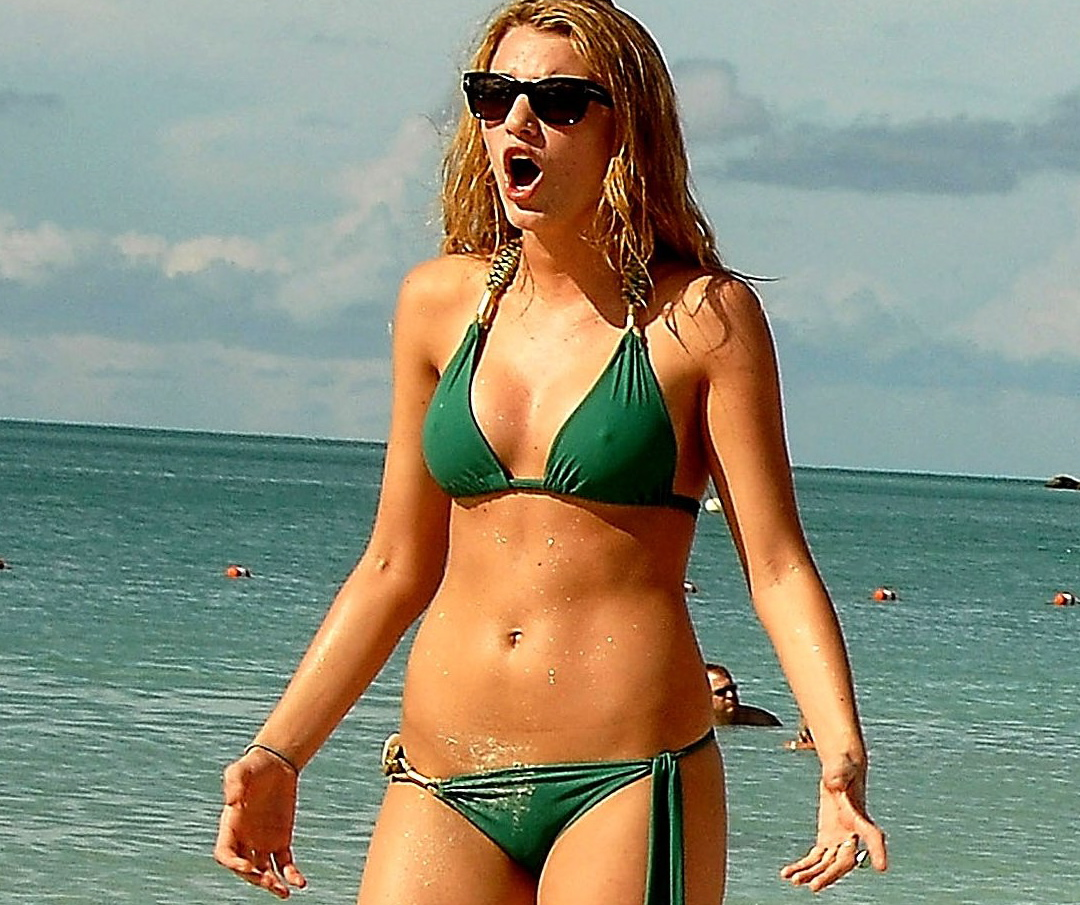 Blake Lively in a little green bikini