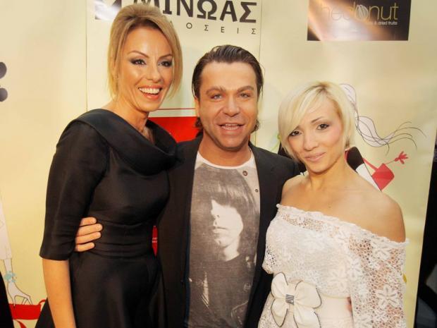 Η Ιωάννα Σουλιώτη με τον Τρύφωνα Σαμαρά με την παρτενέρ του στο Dancing With The Stars, Κλόντια - Άννα Στόγια