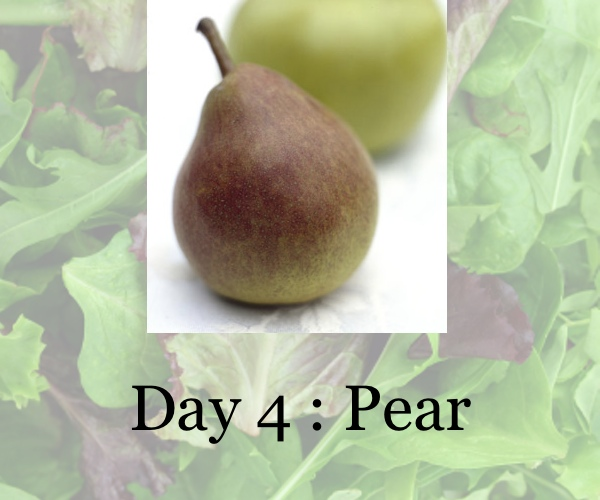 diet day 4, pear, collage trendsurvivor