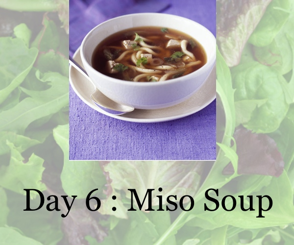 diet day 6, miso soup, collage trendsurvivor