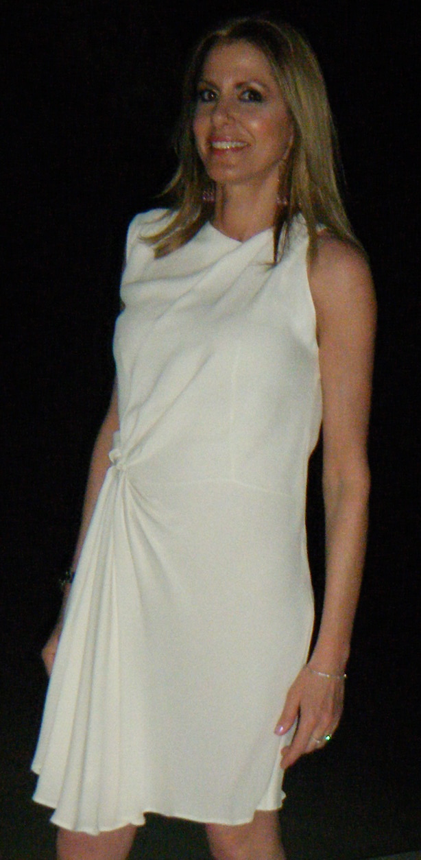 Nina Papaioannou, Trendsurvivor, white dress by Phillip Lim
