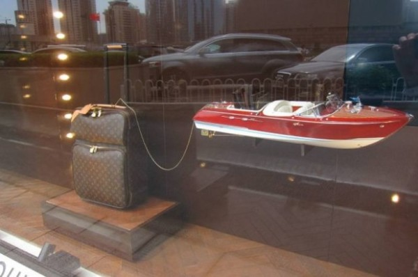 Louis Vuitton at the National Museum of China, suitcase boat
