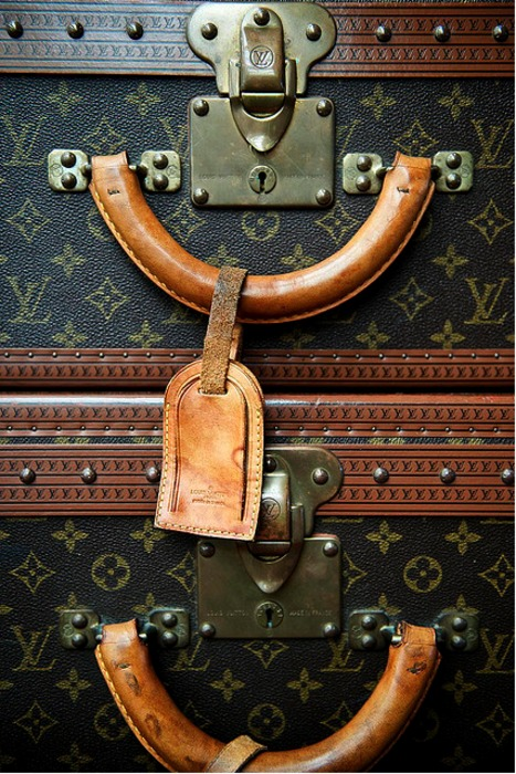 Louis Vuitton vintage luggage close up!
