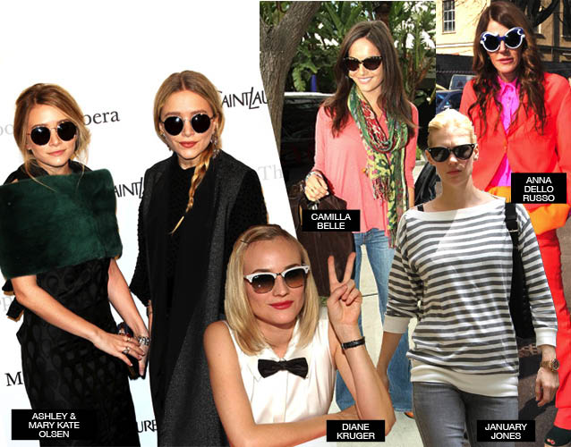 Celebrities with sunglasses