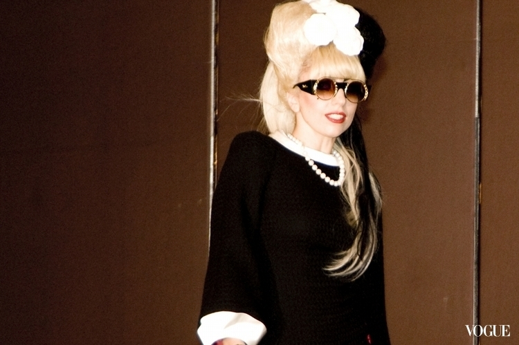 Lady Gaga sunglasses Vogue